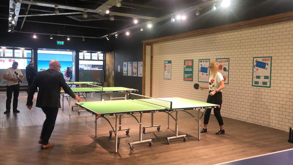 Table tennis venue reopens in larger unit at The Bridges